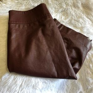 The Limited Brown Faux Leather Pencil Skirt Size 4
